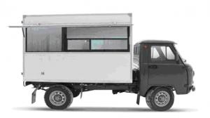 УАЗ-29051 Автолавка  код ОКП 452110 Специальный автомобиль УАЗ-29051 «Автолавка» предназначен для выездной продажи по всем видам дорог и в условиях бездорожья. В комплектацию автомобиля входит