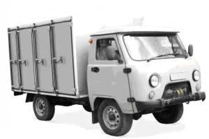 Автомобиль «Хлебовоз» УАЗ-29051 78/106 лот.  Код ОКП 452110 Автомобиль  106 лотков